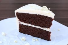 Chocolate Cake with Raspberry White Chocolate Cream Cheese Frosting @janemaynard