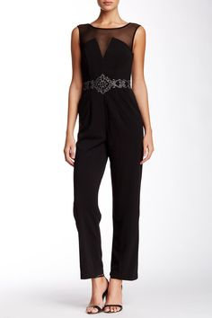 Embellished Sleeveless Jumpsuit by JS Collections