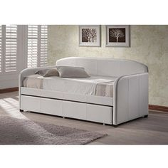 Hannah option...Hillsdale Furniture Springfield Daybed, White with Optional Trundle
