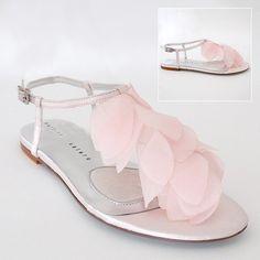 flat light pink bridesmaid shoes