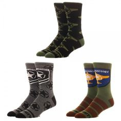 6b134c3886e3 3 Pairs Call of Duty Men's Crew Socks in Gift Box Size 10-13 Activision.
