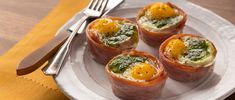 Elevate your senses with this Pesto Egg Ham Cups recipe from Smithfield.