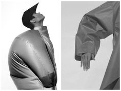 Issey Miyake, Coat, photographed by Irving Penn, 1986