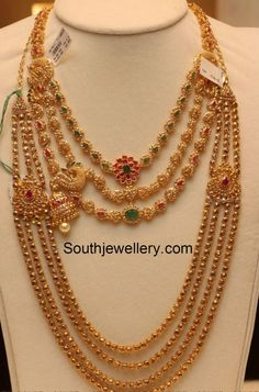 Uncut Diamond Necklace latest jewelry designs - Page 7 of 113 - Indian Jewellery Designs Gold Chain Design, Gold Jewellery Design, Gold Jewelry, Gold Necklaces, Antique Jewelry, Diamond Jewellery, Designer Jewelry, Antique Gold, Diamond Rings