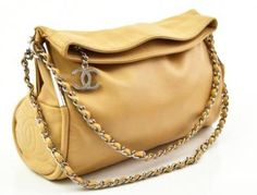 Chanel Tan Beige Lambskin Flap Leather Chain Shoulder Bag Handbag
