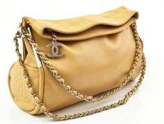 Chanel Tan Beige Lambskin Flap Leather Chain Shoulder Bag Handbag