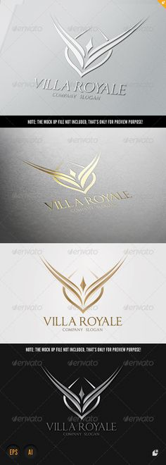 Villa Royale Logo  #GraphicRiver         This logo design for all creative business. Consulting, Excellent logo,simple and unique concept.  Logo Template Features   AI and EPS (Illustrator 10 EPS) 300PPI  CMYK  100% Scalable Vector Files  Easy to edit color / text  Ready to print  Font information at the help file   	 If you buy and like this logo, please remember to rate it. Thanks!     Created: 6October13 GraphicsFilesIncluded: