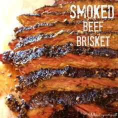 Cooked and sliced beef brisket