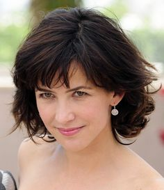 Sophie Marceau Hairstyle - 2014 Layered Short Hairstyle for Women
