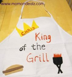 Father's Day Gift-King of the Grill Apron