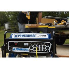 Powerhorse portable generator is more than enough to handle the power tools on a jobsite or to run essential household appliances during emergency outages.
