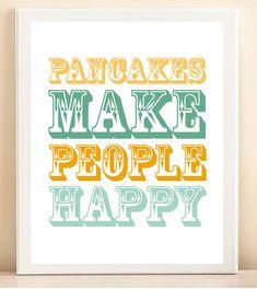 Pancakes <3 Favorite breakfast food for me! :)