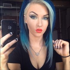 COOL BLUE AND BLONDE!