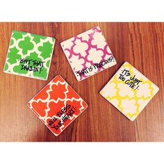 What cute coasters! #coasters #south