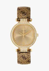 Guess LADIES - Uhr - gold-coloured/brown - Zalando.at Michael Kors Watch, Gold Watch, Lady, Pocket Watch, Rose Gold, Brown, Cravings, Color, Accessories