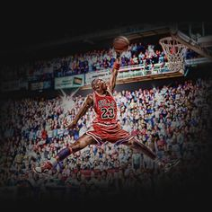 """Michael Jordan's iconic """"Jumpman"""" logo in real life."""