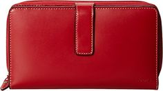 Lodis Women's Audrey Wallet,Red,One Size. 14 card slots. ID window, four slip pockets.two zip pockets.