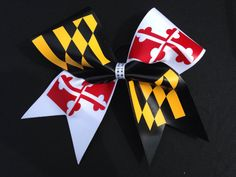 Maryland Cheer Bow by Elitecheerbowsetc on Etsy