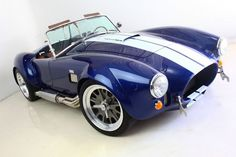 Backdraft Racing - Lemans Blue with White Stripes