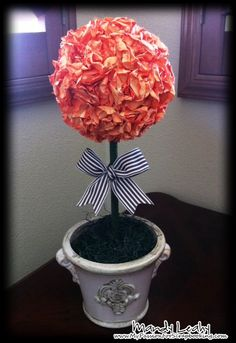 Paper Flower Topiary using the CTMH Art Philosophy Cricut Cartridge by MandyLeahyCTMH - Cards and Paper Crafts at Splitcoaststampers Diy Crafts For Gifts, Paper Crafts, Paper Tree, Diy Presents, Flower Market, Cricut Creations, Topiary, Flower Crafts, Flower Making