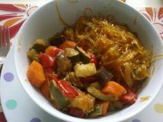 Vermicelles de soja et ses petits légumes