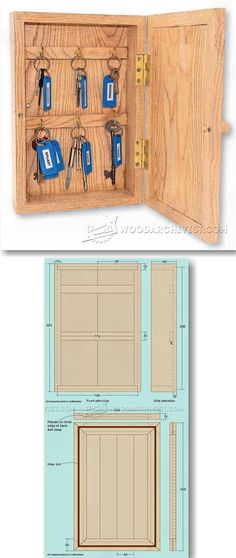 Key Cupboard - Woodworking Plans and Projects | WoodArchivist.com