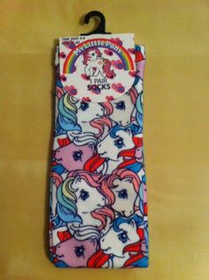 My Little Pony G1 1980s design socks BNWT | eBay My Little Pony Clothes, 1980s Design, Mafia, Ponies, Veronica, Birthday Wishes, Tights, Socks, Flat