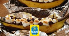 Planning a summer camping trip? Put a twist on your favorite campfire treat with our banana s'mores recipe!