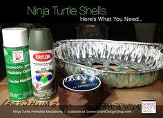 party favors TMNT | DIY Teenage Mutant Ninja Turtle Party Decorations – Turtle Shells