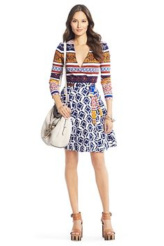 DVF really knew what to do with these patterns. This dress is sold out, but I will keep looking for my wrap dress