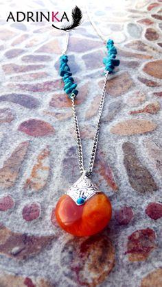 Collaramuleto TURÁM por Adrinka en Etsy, €20.00 Washer Necklace, Etsy, Jewelry, Handmade Gifts, The Creation, Hand Made, Jewlery, Bijoux, Schmuck