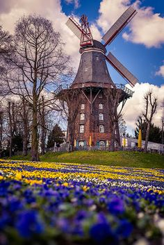 Windmill in Bremen by Victor Rafael Lauth