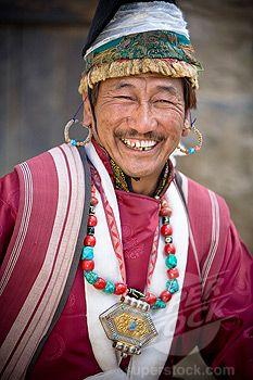 India | Leh, Ladakh, Kashmir, India; Man dressed in traditional clothing | © David DuChemin
