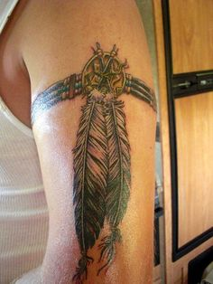 Native American arm band tattoo. Love this one!