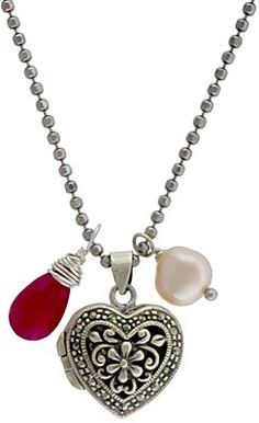 Heart Locket, silver pendants, silver charms available at http://www.ninadesigns.com/jewelry_design_ideas/heart_locket.html