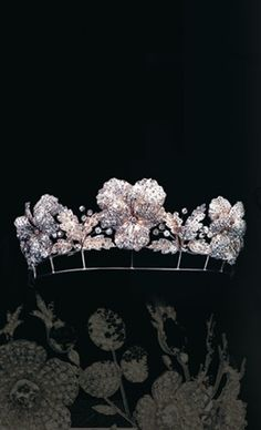 Chaumet | Pansy tiara, divisible into three brooches, Fossin & Fils, circa 1860.