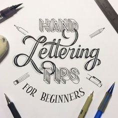 This Lettering for Beginners Guide will give you 5 tips for getting started with hand lettering - from choosing materials to producing a finished piece.