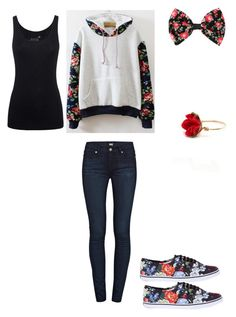"""""""Untitled #242"""" by sweet-strawberry-fairy ❤ liked on Polyvore featuring Paige Denim, Vans, Juvia and Kat&Bee"""