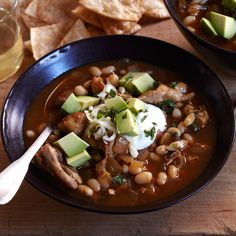 White Bean and Chicken Soup | By using chicken thighs instead of breasts, F&W's Melissa Rubel gives this hearty, jalapeño-spiked soup ultrarich flavor.