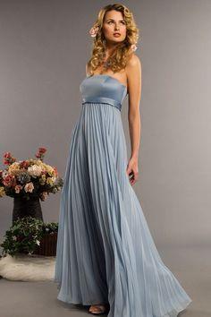 A-line empire waist chiffon dress for bridesmaid $135.80. Love the style
