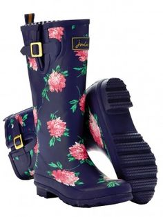 Joules French Navy Peony Welly