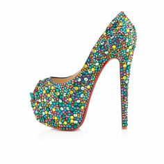 Christian Louboutin  Highness 160mm multicolor strass just beautiful!!! #legallyredapproved