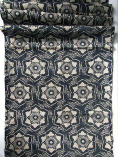 RESERVED Antique Katazome Indigo Cotton 100 years door FurugiStar