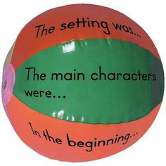 Throw the guided reading beach ball and whatever part your thumb lands on you answer that question