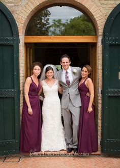 My beautiful bridesmaids and handsome husband!