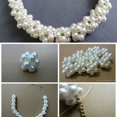 Woven Bead Statement Necklace - DIY - AllDayChic