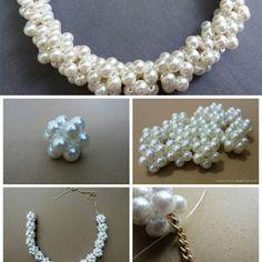 Woven Bead Statement Necklace - DIY - AllDayChic