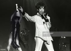 Prince and Mayte perform on stage on the Act II Tour, Brabant hallen, Den Bosch, Netherlands, 9th August 1993.