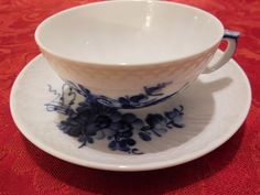 Royal+Copenhagen+Tea+cup+and+Saucer+Blue+Fluted+Half+Lace+#+1551+