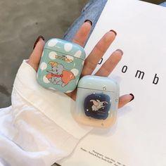 Cute Dumbo Airpods Case Pvc Shockproof Apple Earphone Protection Case Cover, - Meuble d'enfant Fone Apple, Airpods Apple, Apple Case, Cute Cases, Cute Phone Cases, Bling Phone Cases, Disney Phone Cases, Iphone Phone, Iphone Cases